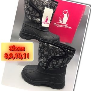 Rugged Bear Girls Snow & rain boots NEW